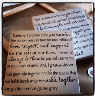 His hers wedding vows red barn canvas his hers wedding vows junglespirit Choice Image