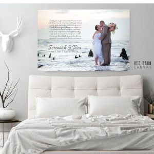 red barn canvas, wedding photo canvas print
