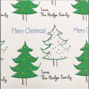 Christmas custom gift wrap