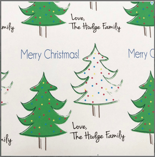 Christmas custom gift wrap
