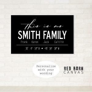 farmhouse style, modern family sign