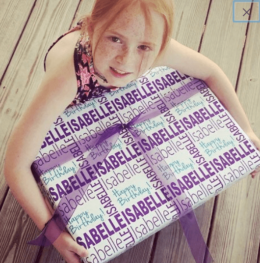 personalized gift wrap, happy birthday paper, Kristy Hodge