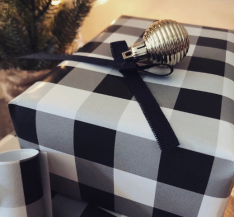 buffalo plaid paper, redbarncanvas, Premium Gift Wrap