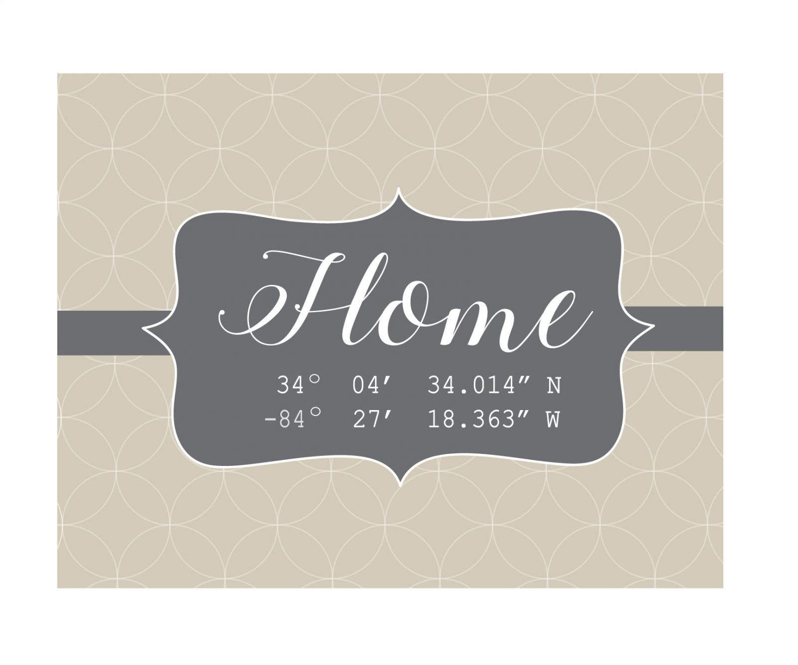 Welcome Home Coordinates